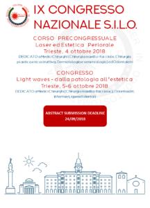 IX Congresso Nazionale SILO. Light Waves - dalla patologia all'estetica @ Aula Magna R. Levi Montalcini - Polo di Anatomia Patologica, Ospedale di Cattinara, Trieste | Trieste | Friuli-Venezia Giulia | Italia